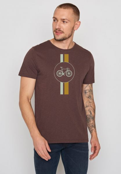 GREENBOMB - BIKE HIGHWAY Spice T-Shirt dark chocolate