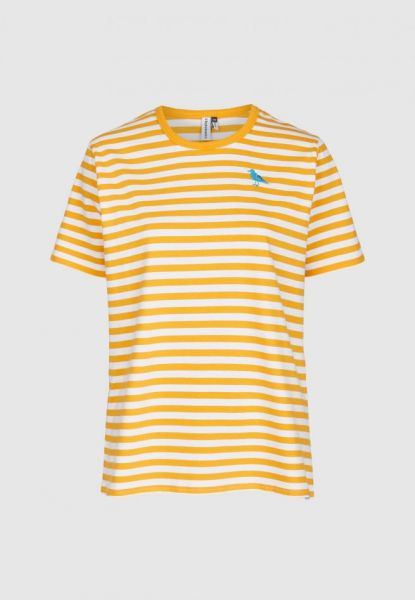 CLEPTOMANICX - GULL STRIPE 2 Shirt apricot
