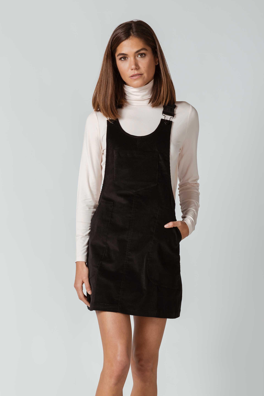 SKFK-ELURRETA-DRESS-Latzkleid-2N-black-2