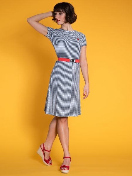 MADEMOISELLE - ON YEAH! Dress blue/ white stripes