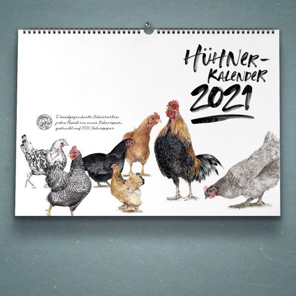 JANINE SOMMER - HÜHNERKALENDER Wandkalender A4