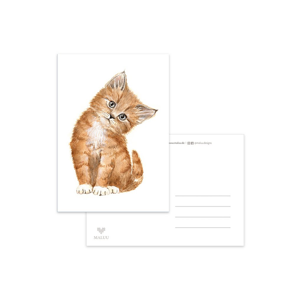 MALUU-KITTY-Postkarte-Katze-A6