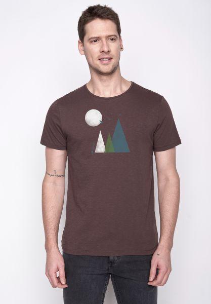 GREENBOMB - NATURE HILLS Spice T-Shirt dark chocolate