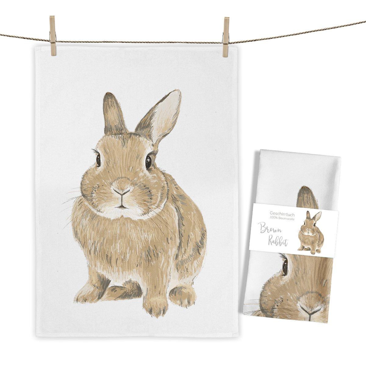MALUU-RABBIT-Geschirrtuch-brown1