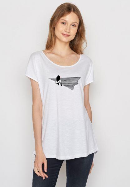GREENBOMB - NATURE BEACH FELLING Cool Shirt white