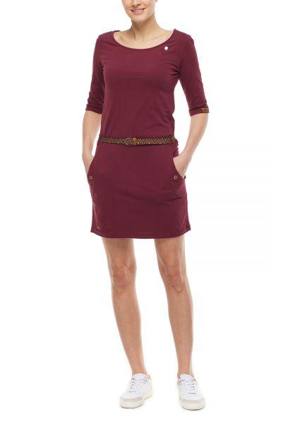 RAGWEAR - TANYA SOLID Dress Kleid bordeaux