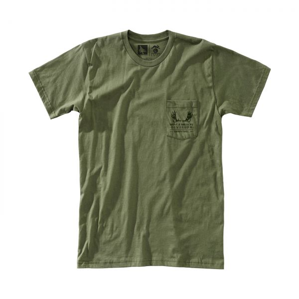 HIPPY TREE - ANTLERS TEE Shirt military