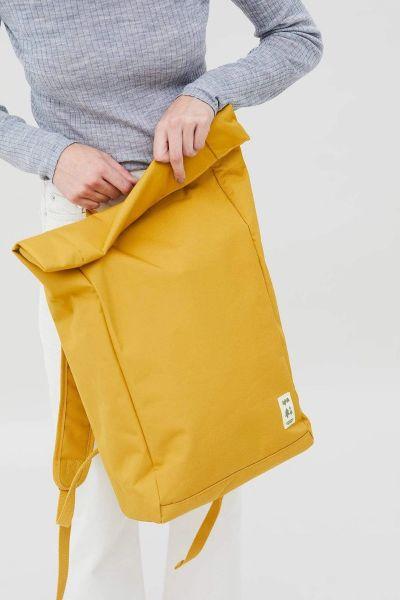 LEFRIK - ROLL BACKPACK Rucksack mustard