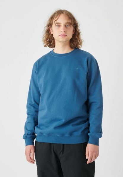 CLEPTOMANICX - LIGULL HEAVY Sweater blue wing