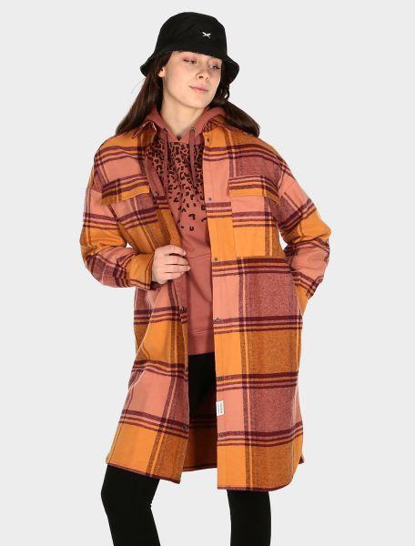 IRIEDAILY - CHECKY SHIRT JACKET Jacke maroon melange