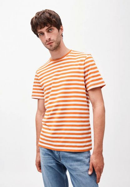 ARMEDANGELS - JAAMES BRETON T-Shirt dark orange-off white