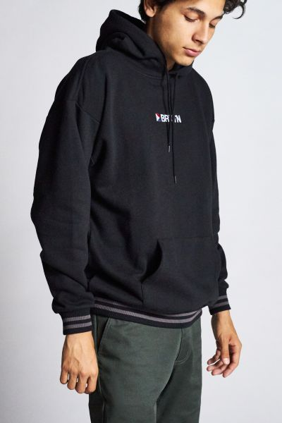 BRIXTON - STOWELL IV INTL HOOD Hooded Sweater Pullover black