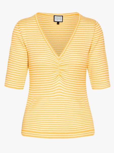 MADEMOISELLE YEYE - ONE STEP AHEAD Knittop Shirt stripes yellow/light yellow