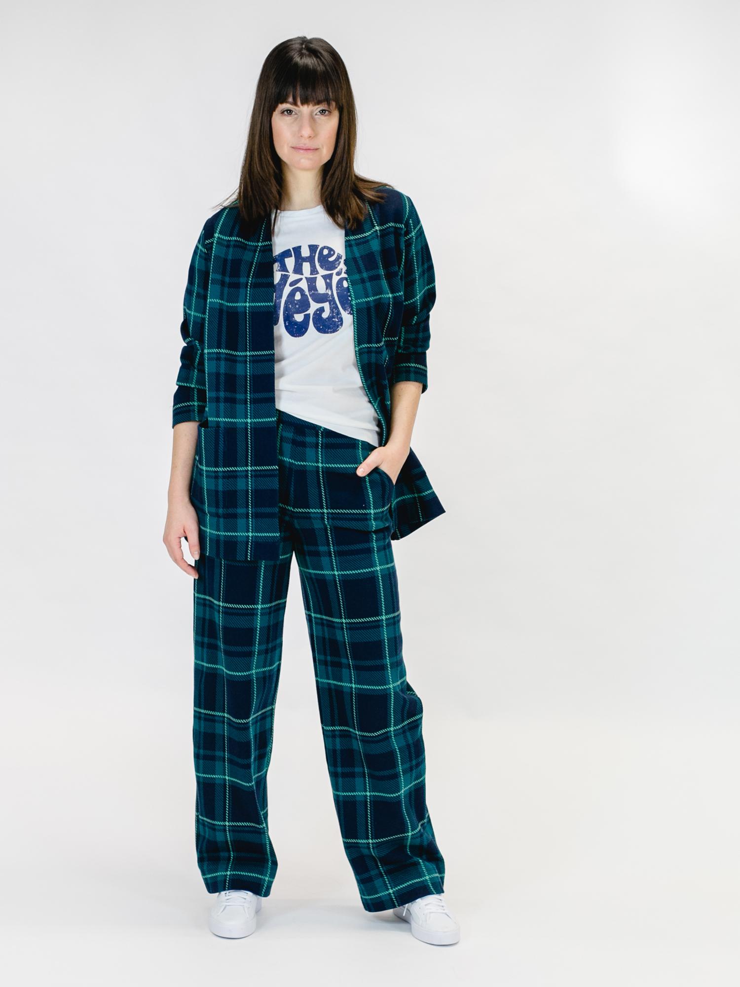 MADEMOISELLE-YEYE-ONE-STEP-BEYOND-Trousers-Hose-tartan-blue-green-5
