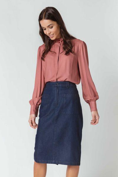 SKFK - AIZARO Shirt Bluse P5 cedar
