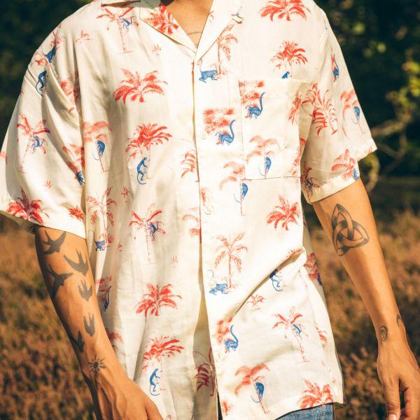 DEDICATED- Shirt Short Sleeve Marstrand Monkey Trees