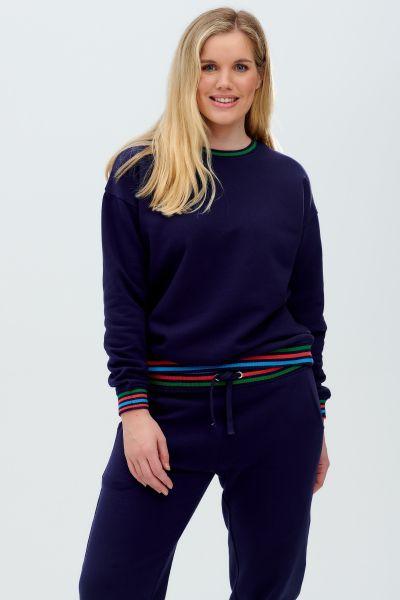 SUGARHILL BRIGHTON - NOAH SWEATSHIRT Pullover navy stripes detail