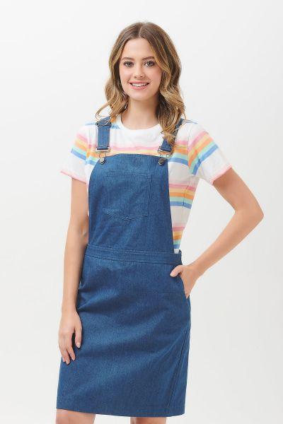 SUGARHILL BRIGHTON - TONI CHAMBRAY APRON DUNGAREE DRESS Latzkleid denim blue