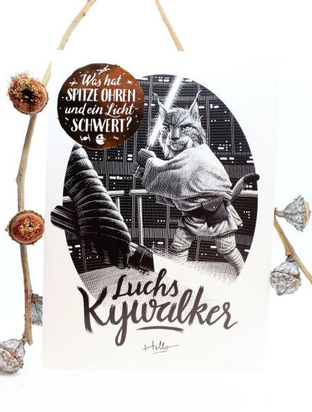 HELLOGEROWSKY - LUCHS KYWALKER Postkarte Art Print