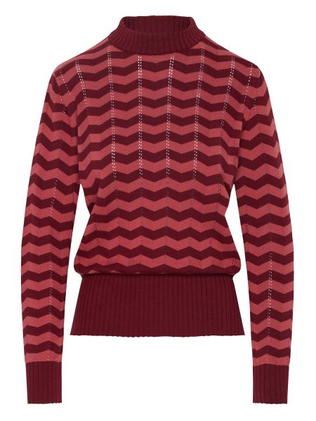 MADEMOISELLE YEYE - CAUSE YOUR MINE Knit Top Strickpullover zick zack red berry