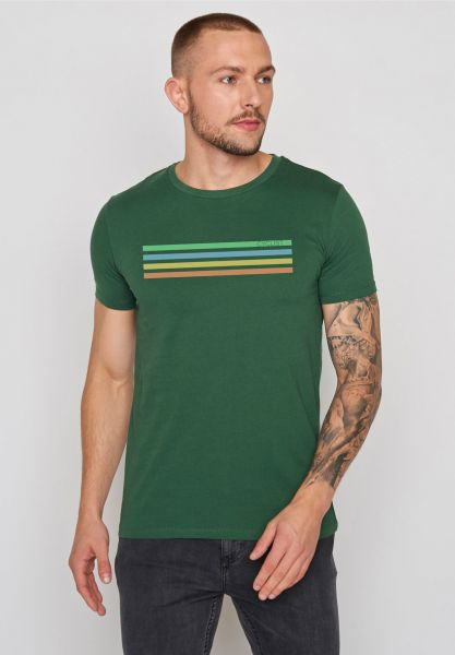 GREENBOMB - BIKE CYCLIST Guide T-Shirt bottle green