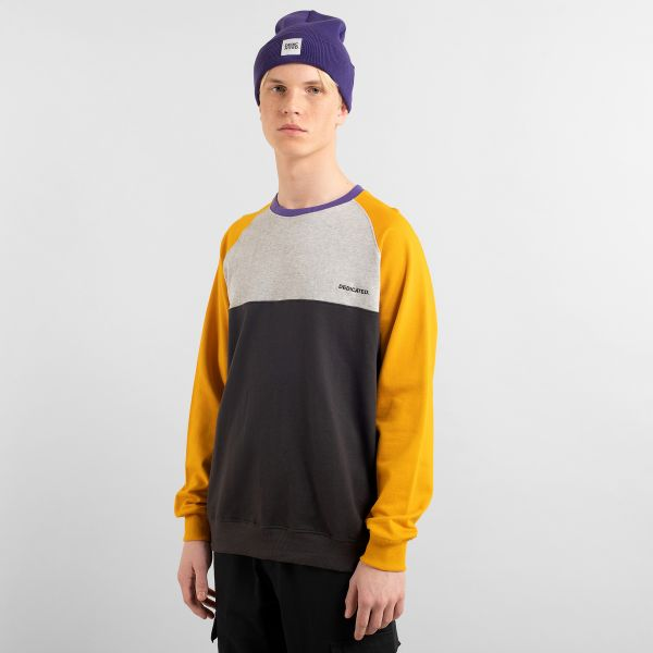 DEDICATED - SPLIT MALMOE Sweatshirt golden yellow