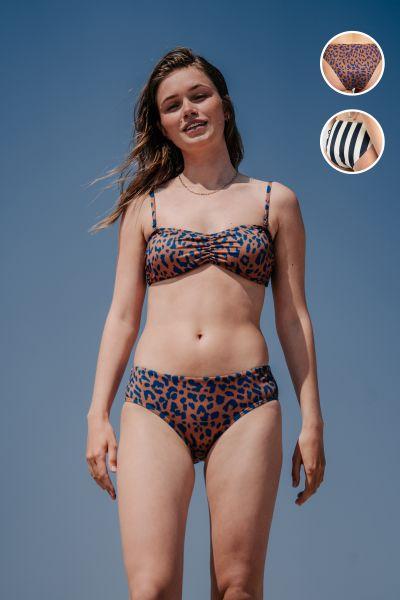 DEDICATED - BOTTOMS LAU LEOPARD Bikini Hose Light Brown