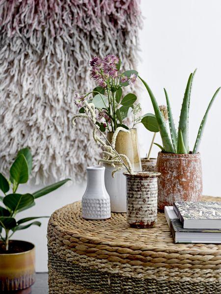 BLOOMINGVILLE - YUMNA Deco Vase, White, Terracotta