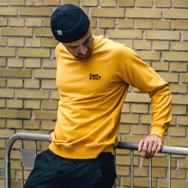 DEDICATED - GOOD AND YOU MALMOE Sweatshirt yellow