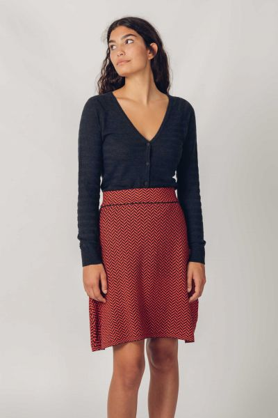 SKFK - ARANE S  SKIRT Rock N5 dark blue/ orange
