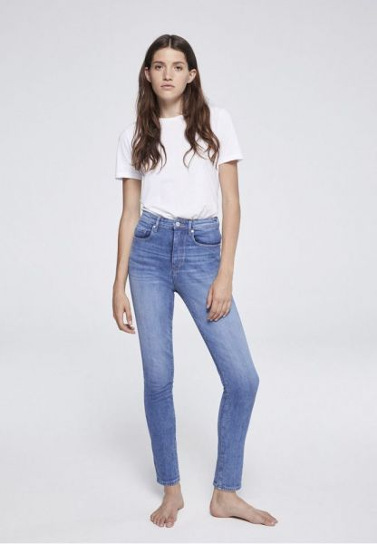ARMEDANGELS - INGA HIGH WAIST DENIM Jeans light stone wash