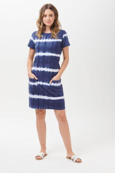 SUGARHILL BRIGHTON - ARIANE TIE DYE MARINE STRIPE DRESS Kleid navy