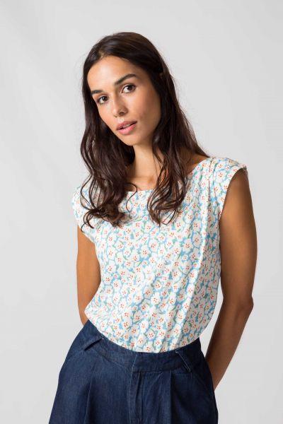 SKFK - MARIXOL T-Shirt B4 nectar blue
