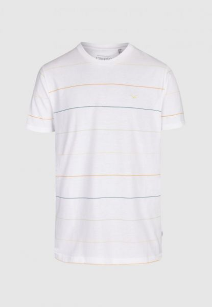 CLEPTOMANICX - MULTI STRIPE Shirt white
