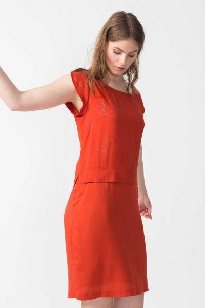 SKFK - NORA DRESS Kleid R6 chili orange