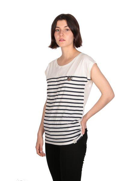 IRIE DAILY - SLOTHY STRIPE TEE T-Shirt off-white