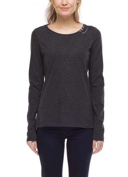 RAGWEAR - FLORAH LONG B ORGANIC T-Shirt dark grey