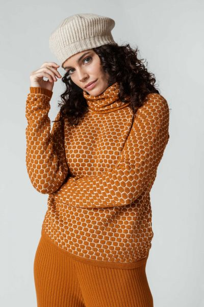 SKFK - IGORRE SWEATER Pullover 66 roasted brown and cream