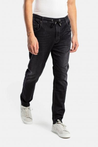 REELL - JOGGER JEANS Hose black wash