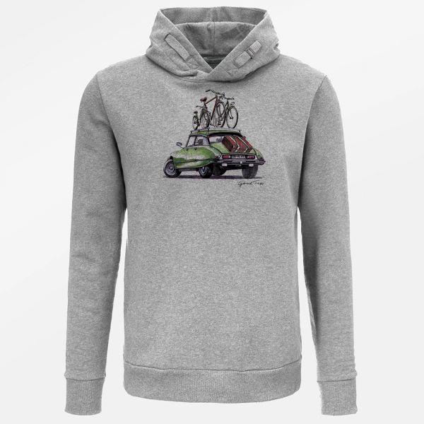 GREENBOMB - BIKE GOOD TRIP Star Hoodie heather grey