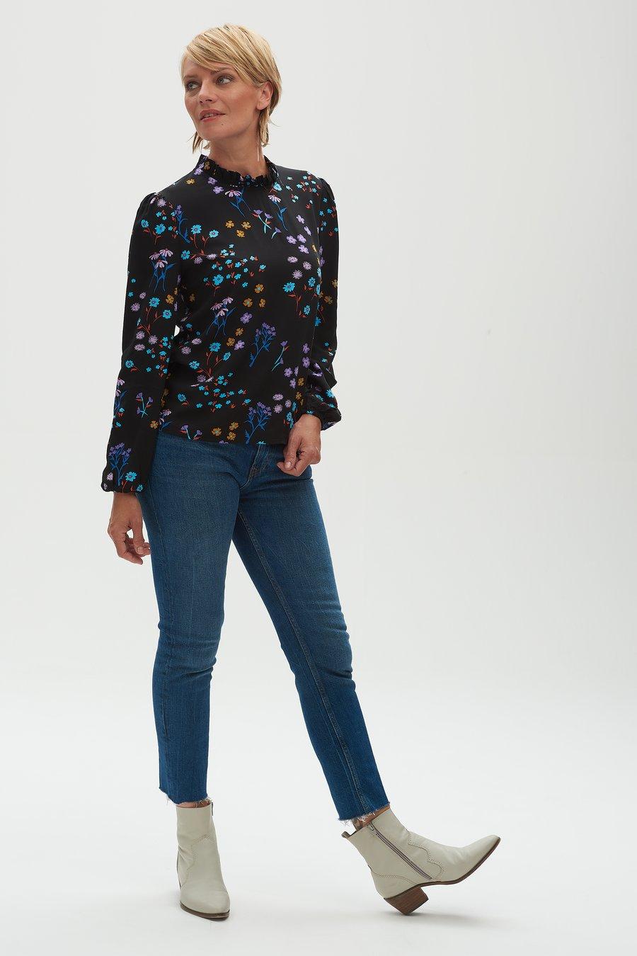 SUGARHILL-BRIGHTON-MAYBELL-FRILL-NECK-BLOUSE-Shirt-black-wild-floral-3
