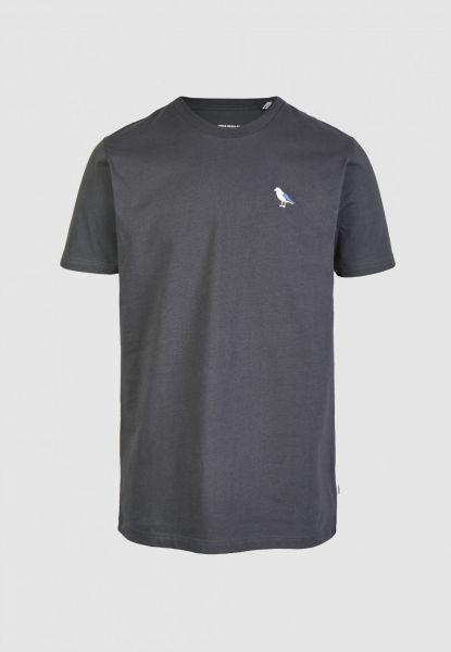 CLEPTOMANICX - EMBRO GULL Shirt blue graphite