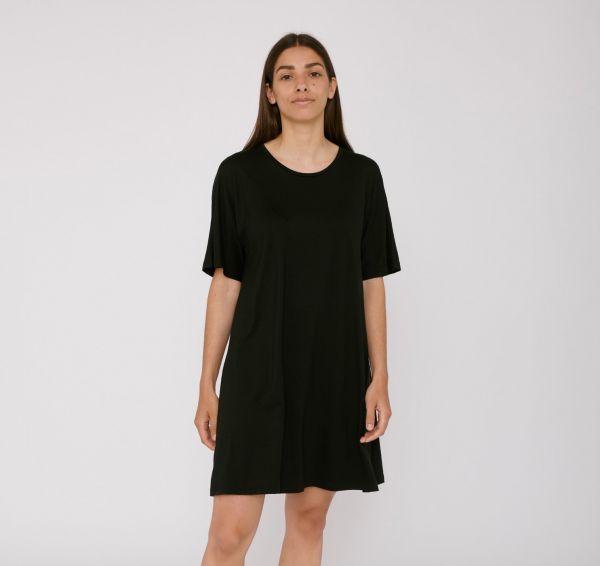 ORGANIC BASICS - LITE T-SHIRT DRESS Kleid black