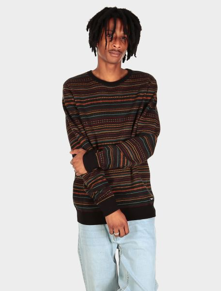 IRIE DAILY - MINEO KNIT Sweater Pulluver black