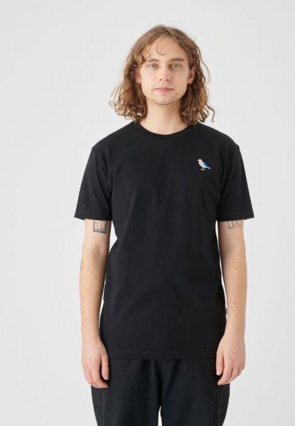 CLEPTOMANICX - EMBRO GULL Shirt black