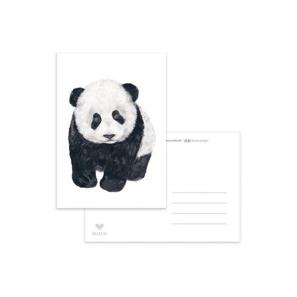 MALUU - PANDA Postkarte A6