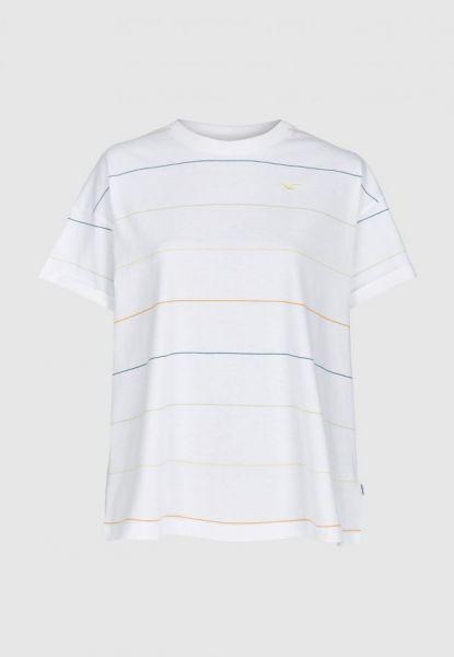 CLEPTOMANICX - SPECIAL TEE MULTI STRIPE Shirt white