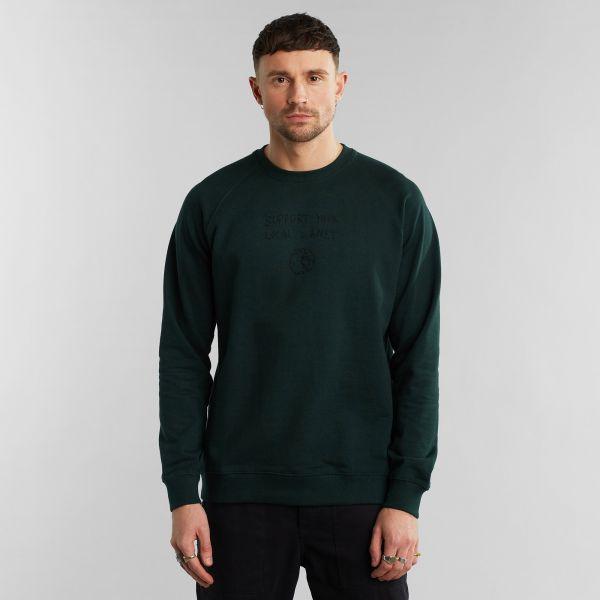 DEDICATED - MALMOE SUPPORT YOUR LOCAL PLANET Sweatshirt dark green - pine grove