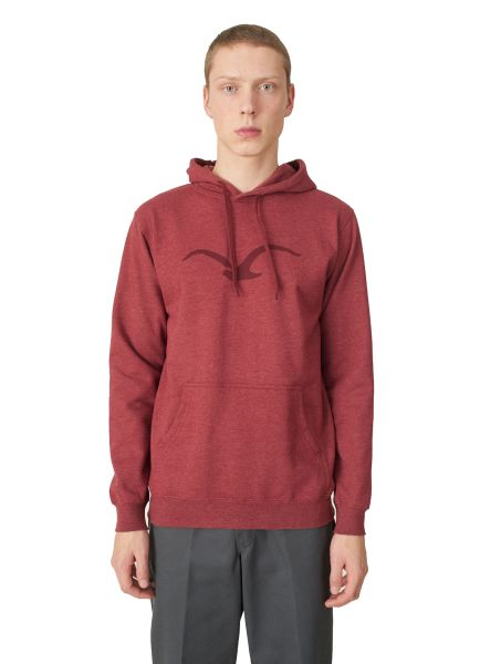 CLEPTOMANICX - MOWE HOODED Kapuzenpullover heather merlot red