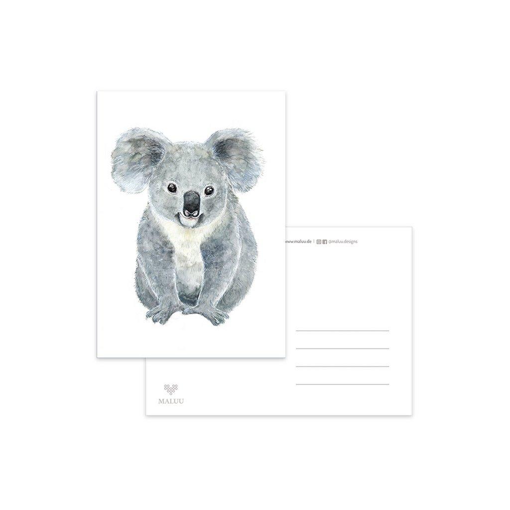 MALUU-KOALA-Postkarte-A6